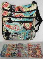 Large Cross Body Bag [Paisley Print]